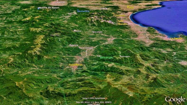 Lunigiana Map 4 Google Earth