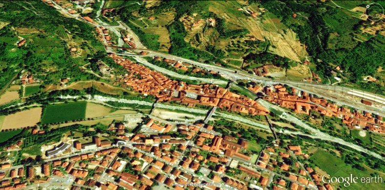 Pontremoli Map 4 Google Earth, North West Tuscan Way