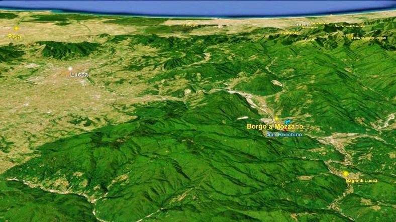 Borgo a Mozzano Map 3 Google Earth