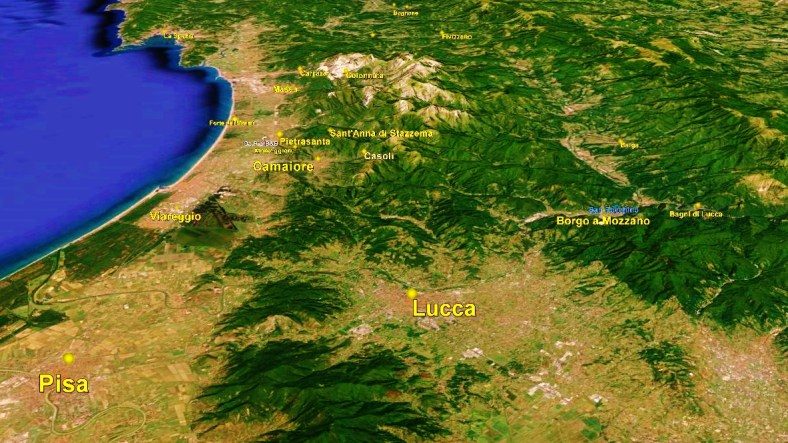 Lucca Map 2 Google Earth