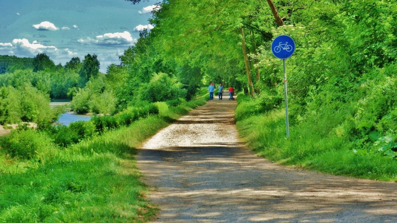 Bike Path, near Ripafratta, Countryside Around Lucca and Pisa