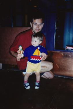Martin Cooney with son Joseph at their SE Portland, Oregon, home
