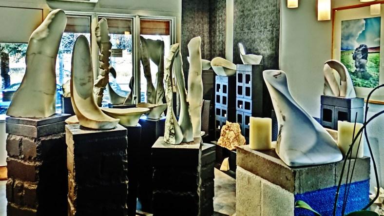 1718 Winter Show, Colorado Yule Marble Sculpture by Martin Cooney, KMJ COONEY GALLERY, Aspen, Colorado