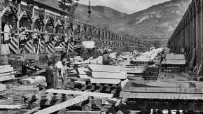 Yule Marble Quarry, 1913 sorting yard (3)