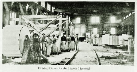 Yule Marble Quarry, Finishing Room, column drums