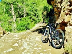 Mountain Biking near Marble Colorado, Along the Aspen Marble Detour