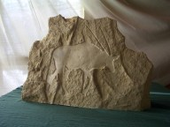 Gemsbok Drift, Bas Relief Kansas Creme Limestone @ martincooney.com