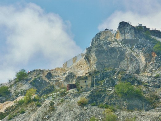 Colonnata, View of Marble Quarries, Tuscany, Italy