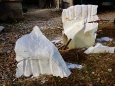 Splitting Troglodyte Cloister & Curvilinear Campfire, by MARTIN COONEY, rough blocks.