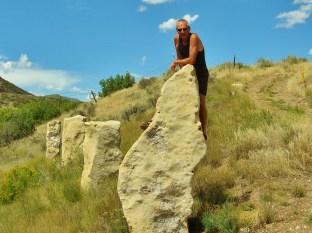 Author, Standing Stones, Woody Creek, Colorado