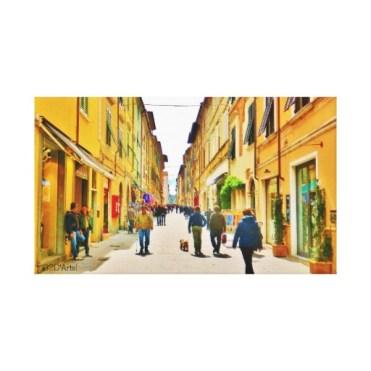 Arrow Straight Pietrasanta Street, Wrapped Print, 24 x 14, center