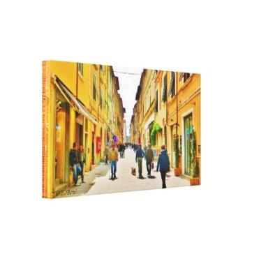 Arrow Straight Pietrasanta Street, Wrapped Print, 24 x 14, left