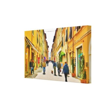Arrow Straight Pietrasanta Street, Wrapped Print, 24 x 14, right