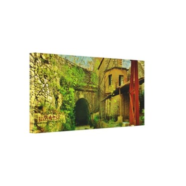 Carrara Marble Quarry Tunnel, Wrapped Canvas Print, 28 x 25, left