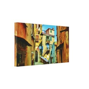Downtown Colonnata, 24 x 13, Wrapped Canvas Print, left