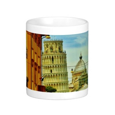 First Glimpse, Leaning Tower of Pisa, Classic Mug, Center