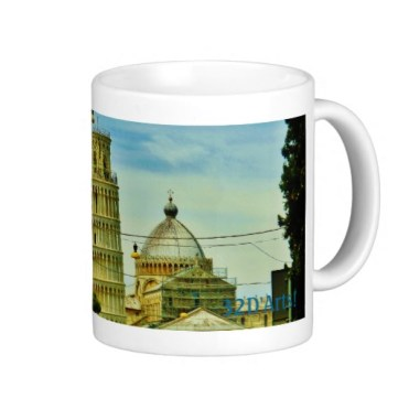 First Glimpse, Leaning Tower of Pisa, Classic Mug, Right