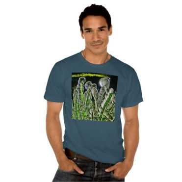 Ice Migration, Men, American Apparel Organic T-Shirt, Front, Model, Dark Blue