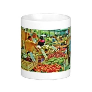 La Spezia Market Fruit Inspection, Classic Mug, Center