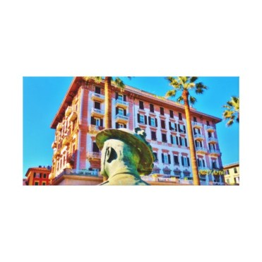 La Spezia Waterfront Military Bust, Wrapped Canvas Print, 28 x 14, centerjpg