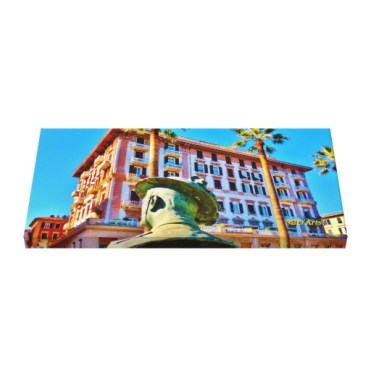 La Spezia Waterfront Military Bust, Wrapped Canvas Print, 28 x 14, up