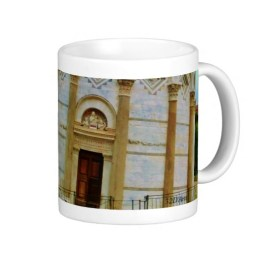 Leaning Tower of Pisa Entrance at Dusk, Classic Mug, Right
