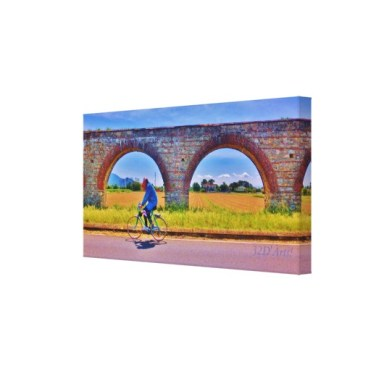 Luccan Aqueduct Road Bicycle, Wrapped Canvas Print, 26 x 13.5, right