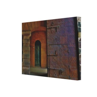 Monumental Gates, Lucca, 22 x 16, Wrapped Canvas Print,right
