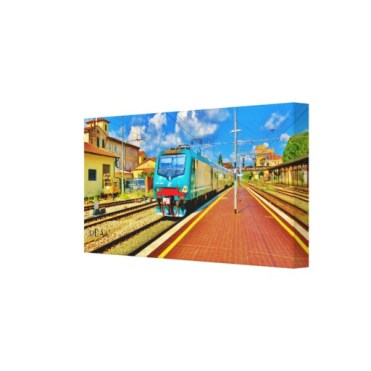 The Florence Train Pulls Into Lucca, Wrapped Print, 20 x 10,right