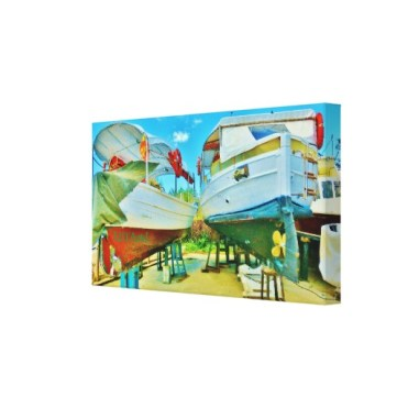 Tuscan Coast Dry Docked Boats, Wrapped Print, 22 x 12, right