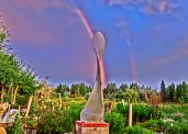 Maypole with Rainbow