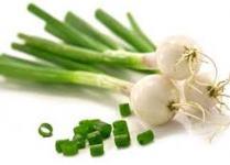 Oignon vert pour la  Salade de chou Nappa