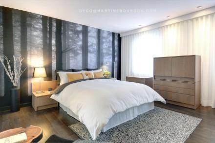Habiller Murs fentre et lit dans la chambre  coucher  Martine Bourdon  Dcoratrice d