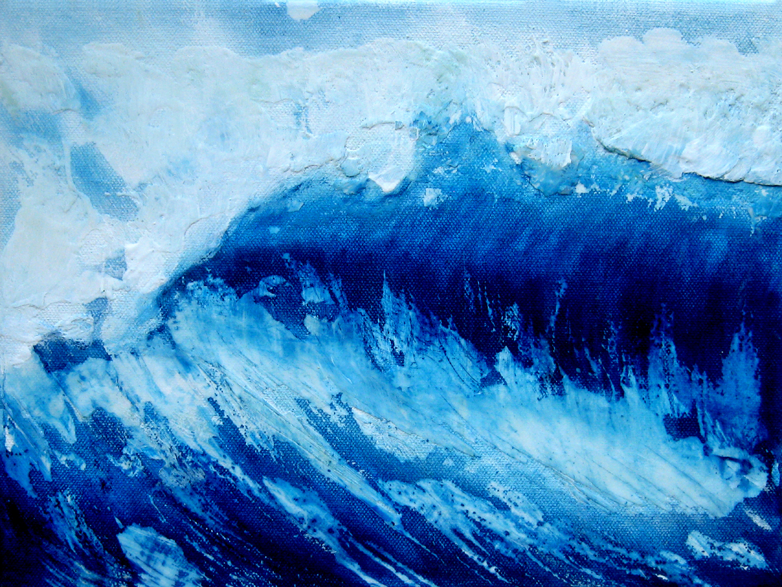 contemporary abstract wave paintings