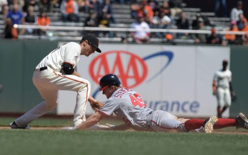 San Francisco Giants vs Washington Nationals. The San Francisco lost to the Nationals 15-2 Photos by Gerome Wright Martinez News-Gazette