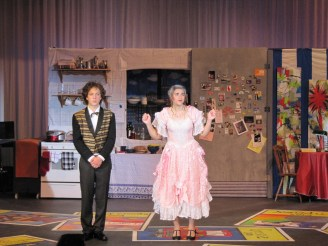 Sam Millson, Rebekah Lipman as Underlling and Mrs. Tottendale