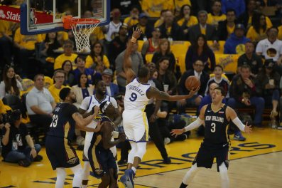 Andre Iguodala with the rebound Photos by Kym Fortino Martinez News-Gazette
