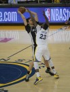#23 Draymond Green all over #16 Spurs Center Pau Gasol Photo by Gerome Wright Martinez News-Gazette