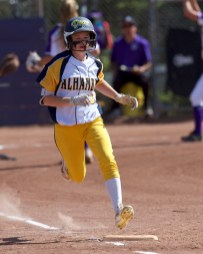 Alhambra Bulldogs Softball @ College Park Photos by Mark Fierner Martinez News-Gazette
