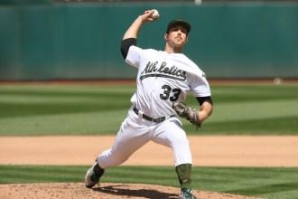 Oakland Athletics vs D-Backs #33 Pitcher Daniel Mengden Photos by Tod Fierner Martinez News-Gazette