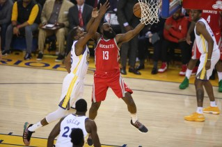Golden State Warriors vs Houston Rockets Game 6 #13 James Harden Photos by Tod Fierner Martinez News-Gazette