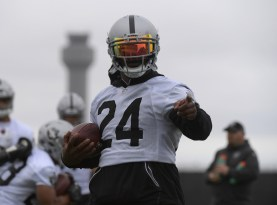 Oakland Raiders OTA #24 RB Marshawn Lynch Photo by Gerome Wright