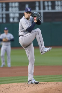 Tampa Bay Ray's vs Oakland A's Rays Pitcher #4 Blake Snell Photos by Tod Fierner Martinez News-Gazette