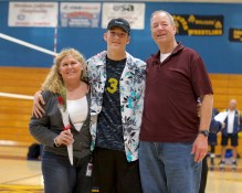 #3 Corey Drevno Alhambra Boy's Volleyball Senior Night Photos by Mark Fierner Martinez News-Gazette
