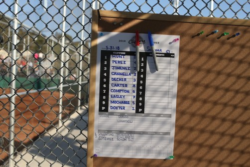Martinez Clippers Opening Night vs Sonoma Stompers Baseball. Starting lineup Photos by Tod Fierner Martinez News-Gazette
