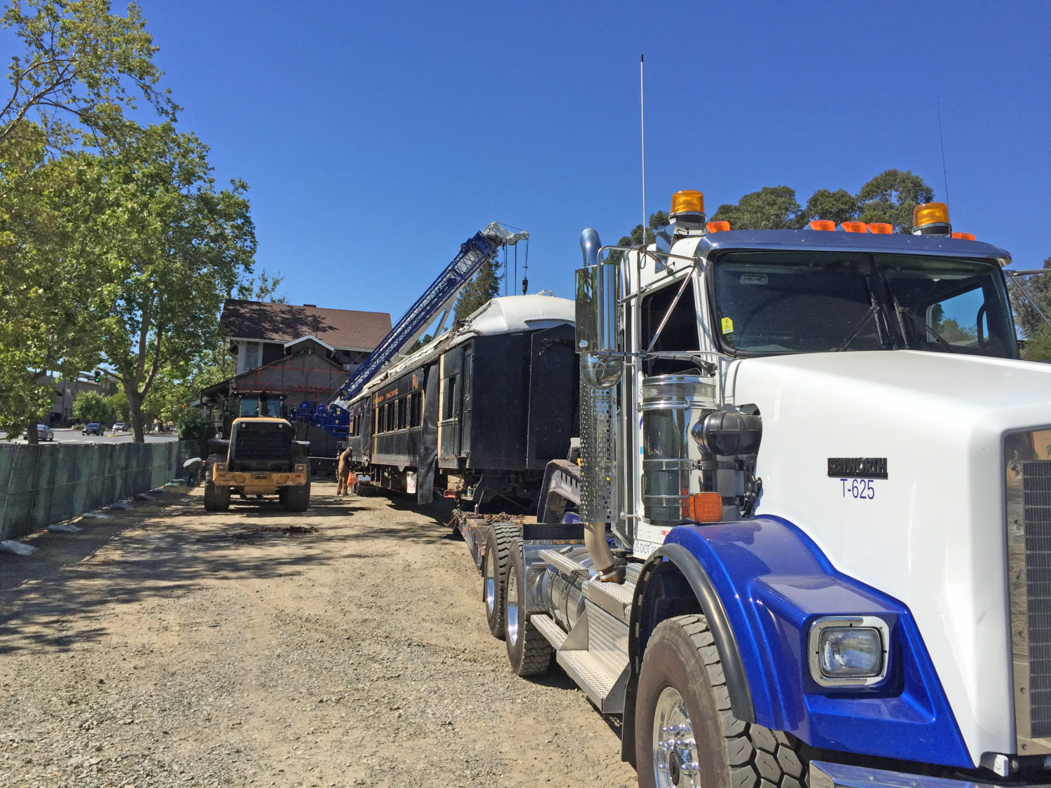 The Car is Almost Ready to Roll — to leave Walnut Creek for Martinez