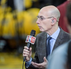 Golden State Warriors vs Cleveland Cavaliers Commissioner Adam Silver Game Two NBA Finals Photos by Gerome Wright (Martinez News-Gazette)