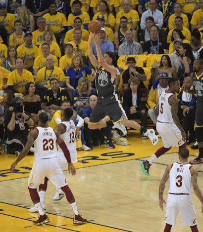 Golden State Warriors vs Cleveland Cavaliers Game Two NBA Finals Klay for two Photos by Gerome Wright (Martinez News-Gazette)