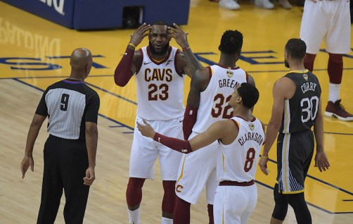 Golden State Warriors vs Cleveland Cavaliers LaBron James Game Two NBA Finals Photos by Gerome Wright (Martinez News-Gazette)