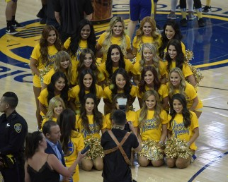 Golden State Warriors vs Cleveland Cavaliers Warrior Girls Game Two NBA Finals Photos by Gerome Wright (Martinez News-Gazette)